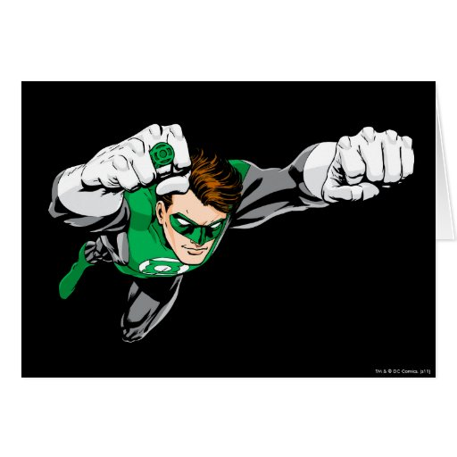 Green Lantern - Comic, Flying Right Card