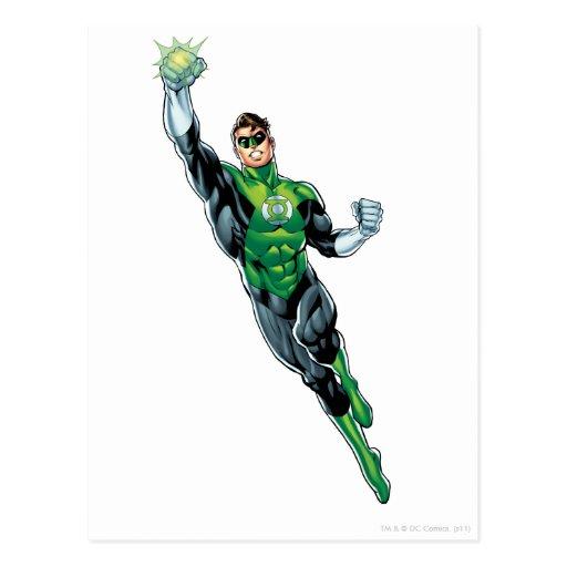 green lantern comic flying up postcard zazzle