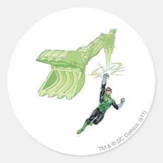 Green Lantern - Comic, with machine Classic Round Sticker