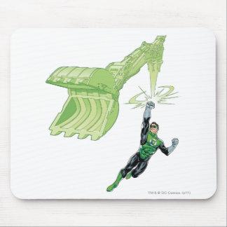 Green Lantern - Comic, with machine Mouse Pad