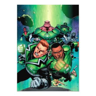 Green Lantern Corps 5x7 Paper Invitation Card