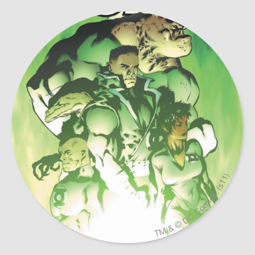 Green Lantern Corps Classic Round Sticker