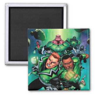 Green Lantern Corps 2 Inch Square Magnet
