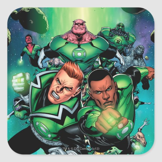 Green Lantern Corps Square Sticker