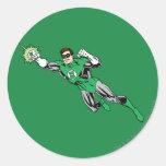 Green Lantern Fly Left 2 Round Sticker