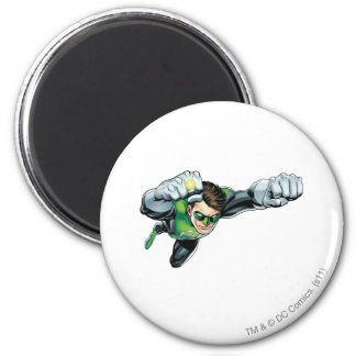 Green Lantern - Fully Rendered,  Flying Right 2 Inch Round Magnet