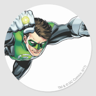 Green Lantern - Fully Rendered,  Flying Right Classic Round Sticker