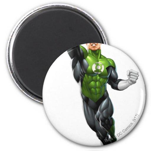 Green Lantern - Fully Rendered,  Flying Up Fridge Magnet