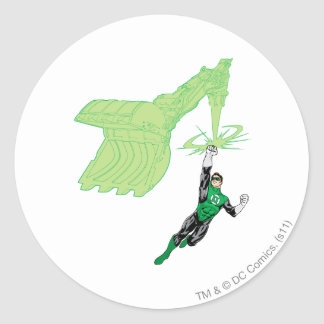 Green Lantern - Fully Rendered,  with machine Classic Round Sticker