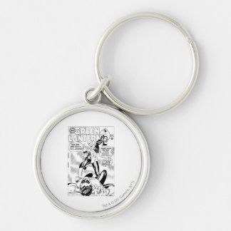 Green Lantern - Get Off this Earch Hal Jordan, Bla Silver-Colored Round Keychain