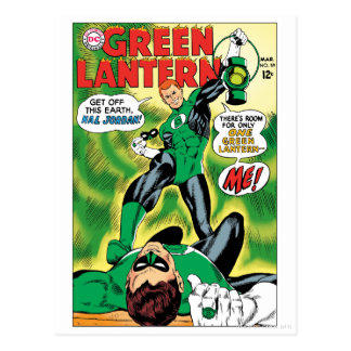 Green Lantern - Get Off this Earch Hal Jordan Postcard