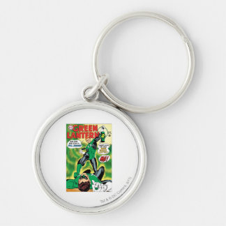 Green Lantern - Get Off this Earch Hal Jordan Silver-Colored Round Keychain
