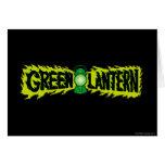 Green Lantern - Glowing Lantern 2 Greeting Card