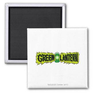 Green Lantern - Glowing Lantern 2 2 Inch Square Magnet