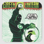 Green Lantern - Glowing Lantern Square Sticker