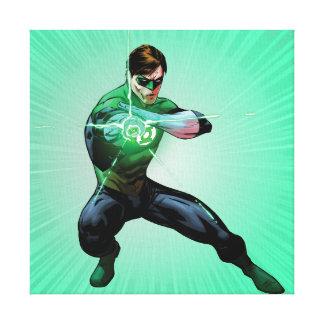 Green Lantern & Glowing Ring Canvas Print