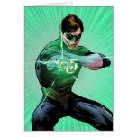 Green Lantern & Glowing Ring Greeting Card