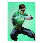 "Green Lantern & Glowing Ring 5"" X 7"" Invitation Card"