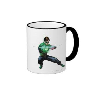 Green Lantern & Glowing Ring Ringer Coffee Mug