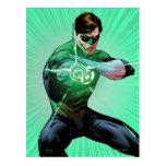 Green Lantern & Glowing Ring Postcard