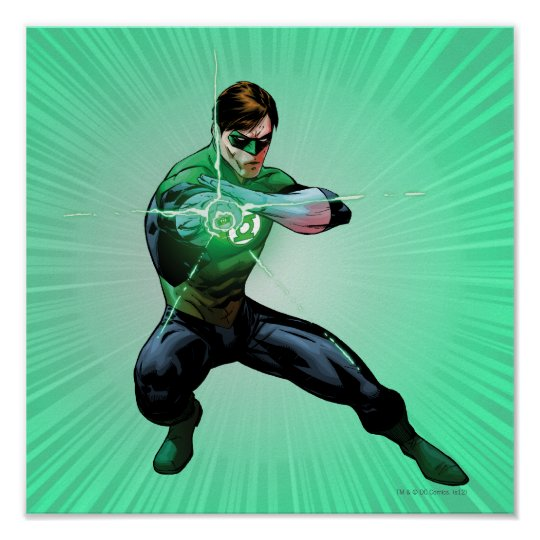 Green Lantern & Glowing Ring Poster