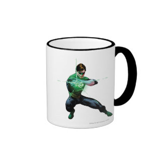 Green Lantern & Glowing Ring Ringer Mug