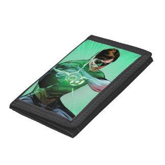 Green Lantern & Glowing Ring Trifold Wallets
