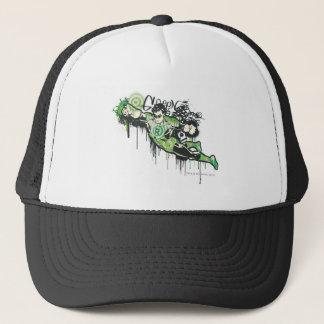 Green Lantern Graffiti Character Trucker Hat
