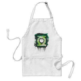 Green Lantern Graffiti Symbol Adult Apron