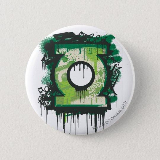 Green Lantern Graffiti Symbol Button