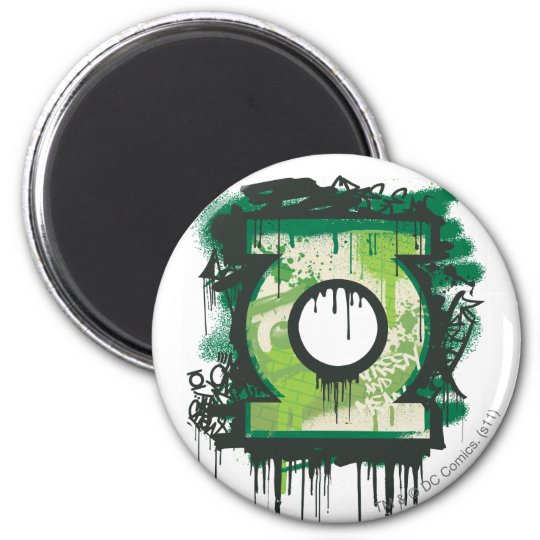 Green Lantern Graffiti Symbol Magnet