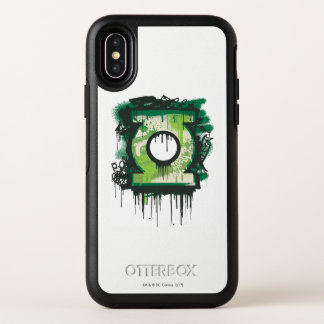 Green Lantern Graffiti Symbol OtterBox Symmetry iPhone X Case