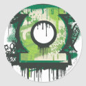 Green Lantern Graffiti Symbol sticker