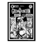 Green Lantern  - Green Shaded Comic, Black and Whi Card