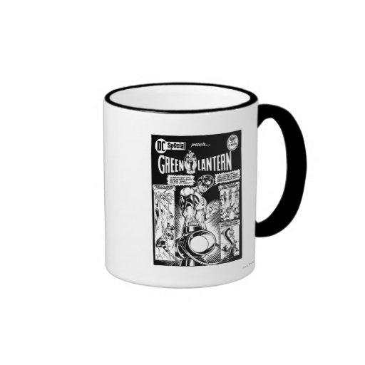 Green Lantern  - Green Shaded Comic, Black Mugs