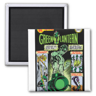 Green Lantern  - Green Shaded Comic Magnet