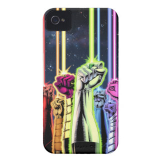 Green Lantern - Hands in Air with Rings iPhone 4 Case