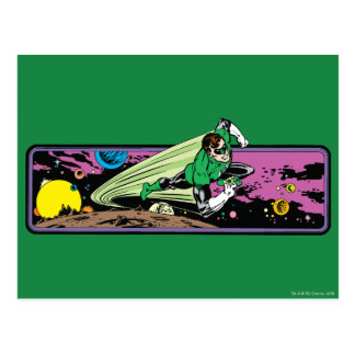 Green Lantern in Space Postcard