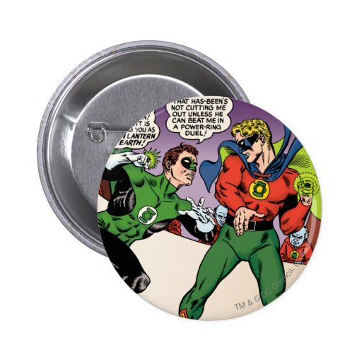 Green Lantern in the ring Button