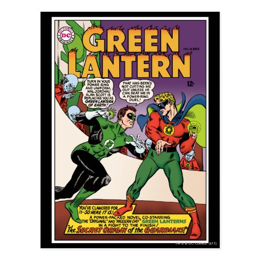 Green Lantern in the ring Postcard
