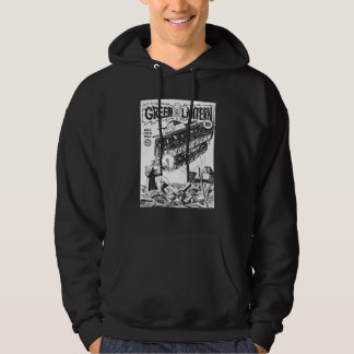 Green Lantern in the trenches, Black and White Hoodie