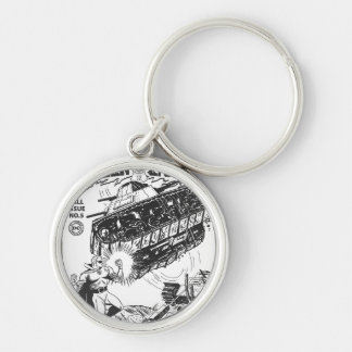 Green Lantern in the trenches, Black and White Keychain