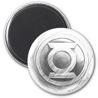 Green Lantern Insignia 2 Inch Round Magnet