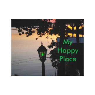 Green Lantern Lake Sunset Happy Place Canvas Print