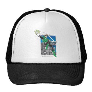 Green Lantern Lands in City Hat