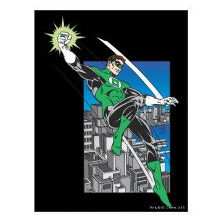 Green Lantern Lands in City Postcard