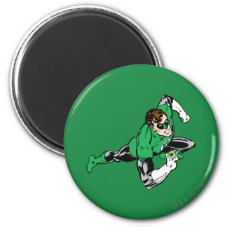 Green Lantern Leap Right 2 Inch Round Magnet