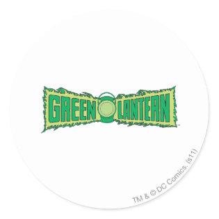 Green Lantern Letters 1 Classic Round Sticker