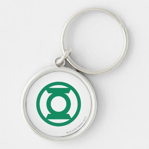 Green Lantern Logo 13 Silver-Colored Round Keychain