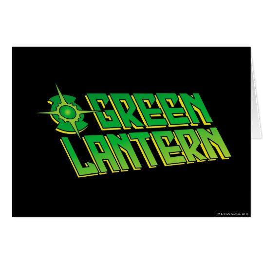 Green Lantern Logo - Slanted Card
